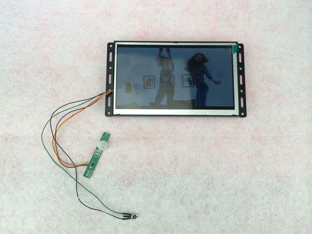 7 Inch Black 50 / 60HZ Rechargeable Digital Photo Frame With FCC / PSE