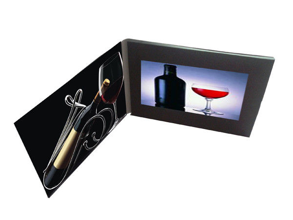 TFT Screen LCD Video Card , LCD Video Greeting Card With Customized 4C Artwork Printing