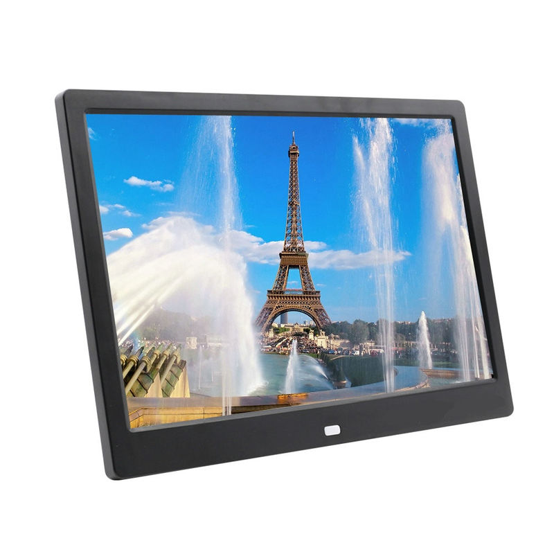 DC Input 12V 2A 12 Inch 1280*800px Wide Screen Digital Photo Frame