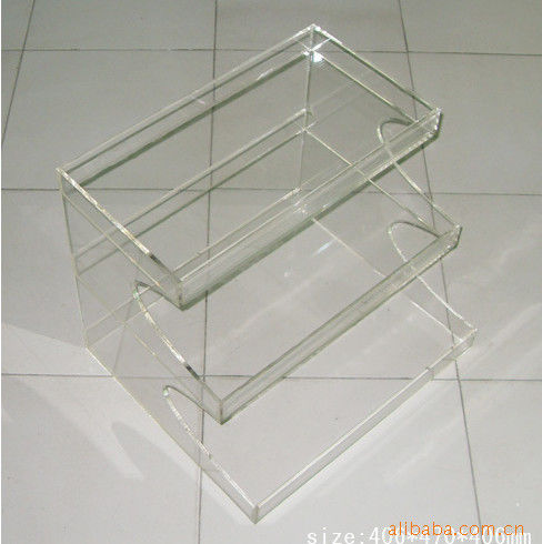 Advertising Clear Make Up Cosmetic Counter Top Display Stands With Color Uv Print